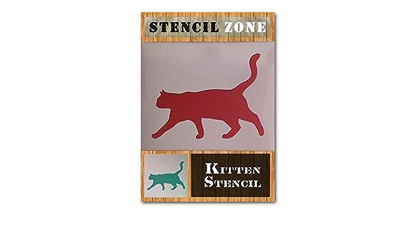A4 Taille Pochoir - Petit Chats Walking animal animaux mylar air brosse pochoir art pari/étal enfants peinture