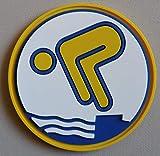 Erlebe Wasser Gold Schwimmabzeichen PVC-Abzeichen RUND NEUHEIT!