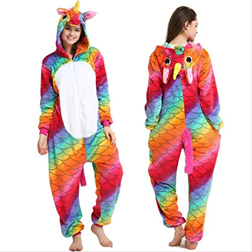 Fancy Paar Sizzle Animal Conjoined 105 x 120 Yards Fischwaage PferdErwachsene Unisex Tier Schlafanzug Cosplay Pyjamas Karneval Kostüm Loungewear
