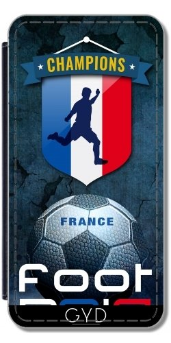 Coque pour Iphone SE - Pied 2016 France by comlaprom Simili-Cuir