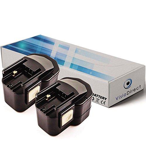Lot de 2 batteries pour AEG BEST12X perceuse visseuse 12V 2000mAh - Visiodirect -