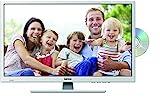 Lenco DVL-2862WH 28 Zoll LED-Fernseher (70 cm) mit DVD-Player und DVB-T2 HD, Triple-Tuner und 12 Volt Kfz-Adapter (HD Ready, HDMI, USB, SCART, CI+), weiß