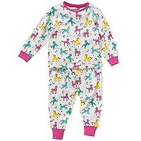 Cozy n Dozy Girls Unicorns Rainbows Stars Printed Pyjama Set