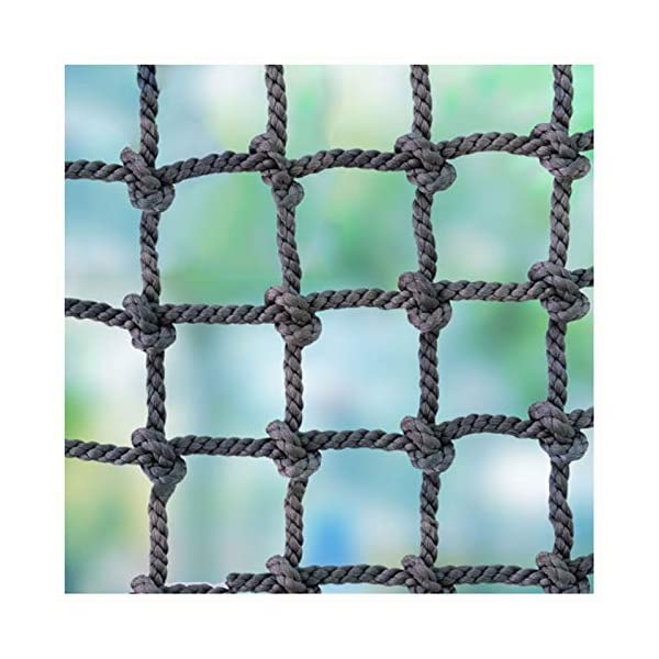 """Safety Netting Fence,runway Racecourse Railing Balcony Stair Fence Decoration Net Kids Adult Nylon Outdoor Climbing Safety Protection Net Used for Load Fixed,Cargo Rope Ladder Truck Heavy Deck Nets XXN ❤Auxiliary image display uses only scene reference,the main picture color is main.The safety net has a diameter of 14mm(0.55"""") and a mesh size of 12cm(4.72""""). The mesh edge is strengthened, the mesh is even, the pulling force is strong, the sunscreen, the weatherproof, the firm and the wearable. ❤The rope net is mainly used for climbing, not only for ordinary children and adults, but also for balconies, stairs, pets, children, gymnasiums, playgrounds, gardens, schools or sports clubs, and isolating truck cargo. It prevents objects from falling and ensures the safety of pets, children, etc. ❤Safety Tip: Regularly check the safety net for safety hazards caused by various external or human factors to protect safety. 1"""