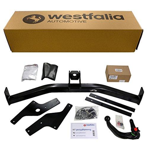 Westfalia abnehmbare Anhängerkupplung - AHK für Ford Focus Turnier (BJ 03/2005-04/2011) - Im Set mit 13-poligem fahrzeugspezifischem Elektrosatz