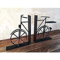 Vintage sujetalibros de bicicletas Negro bicicletas libro del metal Divisor Termina lamentable para hombre regalo