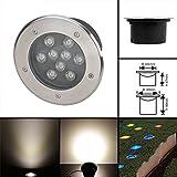 Luce Sepolta LED Superiore del Pavimento 9W 230V Bianco Caldo Faretti Lampade da Incasso a Terra Montati Costruito nel Spot Giardino Riflettori IP67