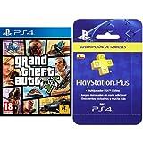 Grand Theft Auto V (GTA V) + PlayStation Plus - Tarjeta de Suscripción de 12 meses