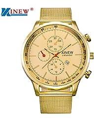 Reloj para hombre, KanLin1986 Reloj de cuarzo Reloj de pulsera de acero inoxidable para hombre
