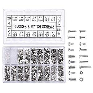 1000 PCS Edehlstahl Schrauben Set Mini Schrauben Schraubendreher Reparatur Werkzeug für Brille Uhr Sonnenbrille Schauspiele