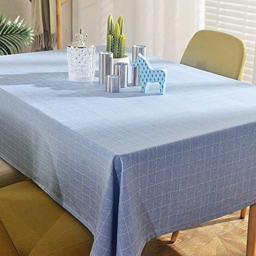 110170 cm blu Checker stile stile stile nordico minimalista Instagram Garden picnic rettangolare da pranzo tovaglia in cotone lino quadrato eco-friendly copre B076FWZKHR Parent | Acquisti online  | Exquisite (medio) lavorazione  | Nuovo Arrivo  a3003a