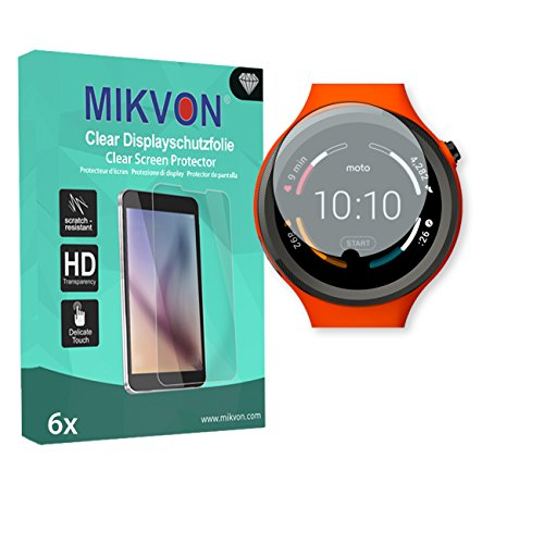 6x Mikvon Clear Película protección de pantalla para Motorola Moto 360 Sport...