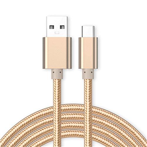 11:11 Accessories® Huawei Y6 (2018) [1M] Datenkabel Micro USB Kabel [USB 3.0] Schnelles Aufladen und Synchronisation [3.1 Amp Schnellladekabel] Nylon Ladekabel - Gold