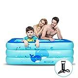 Aufblasbare Badewanne LINGZHIGAN Baby-aufblasbares Pool-Familien-erwachsenes...