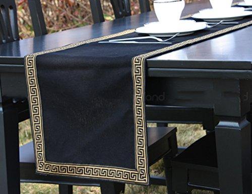 Tischläufer Baumwolle Und Leinen Schwarz Baumwolle Couchtisch Bett Flagge Esstisch Modern Einfache Nordeuropa Tischdecke (größe : 35 * 200cm)