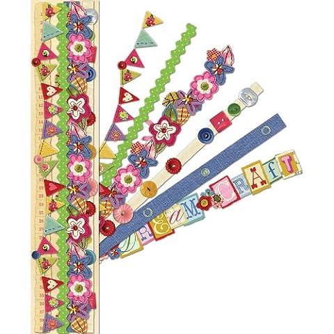 Adhesive Paper Borders-Olivia Rose