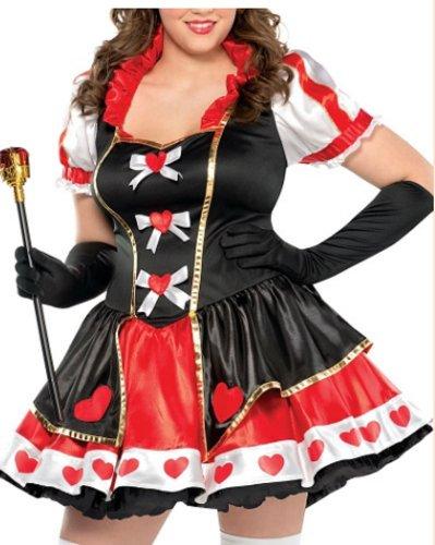 stume Kostüm, Polyester, rot/schwarz ()