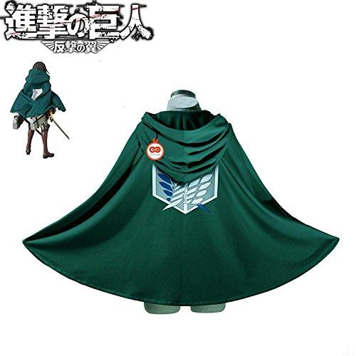 SYMTOP Cape de Cosplay Costume pour Déguisement Cosplay Manga Vert - M