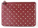 Anya Hindmarch Joss Zip Top Pouch Clutch Bag Medium Red Leather RRP 265