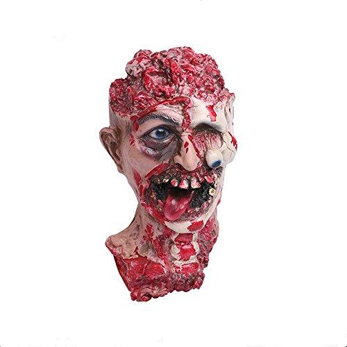 Horror Maske NHsunray Zombie Monster Dämon Totenkopf Schädel Maske Dekoration Untoter Aus Latex Material Für Halloween Ostern Party Maskenfest Kostüm (Für Kostüme Halloween Erwachsene Faul)
