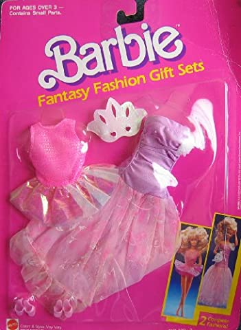 Barbie Fantasy Fashions DANCE COSTUMES - 2 Complete Fashion Outfits! (1989 Arco Toys, Mattel)