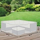 Schutzhüllenprofi  Gartenmöbel  Premium Schutzhülle für Eck-Loungegruppe,Grau,   L (255 x 255 x 80  cm)