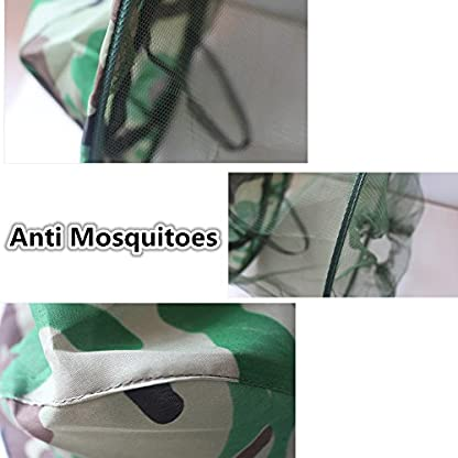 Katech Camouflage Beekeeping Hat Beekeeper Anti-mosquito Face Mask Outdoor Fishing and Camping Mosquito Netting Hat Protective Equipment 4