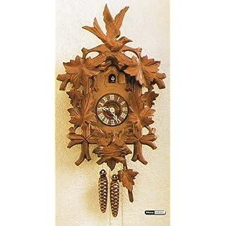 Original geschnitzte Schwarzwälder Kuckucksuhren Kuckucksuhr 1-Tag-Uhrwerk geschnitzt 45cm von Hekas