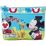 Mickey Mouse Portatodo Dos Cremalleras Grande, Color Multicolor