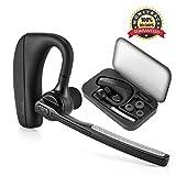 [Neu Version] Torondo Bluetooth Headset V4.1 Kopfhörer Stereo In Ear Ohrhörer mit Mikrofon, einseitiges Bluetooth Headset für iPhone / Android [Einschließen Tragbaren Aufbewahrungs box]