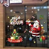 UMIPUBO Natale Vetrofanie Addobbi Natale Adesivi Finestra Sticker Decorazione Babbo Natale Vetrina Wallpaper Adesivi (Natale)