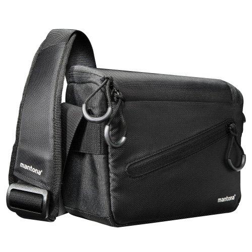 Mantona Irit Kameratasche für kompakte Systemkamera inkl. Objektiv und Zubehör für Nikon 1, Sony NEX, Olympus PEN OM-D