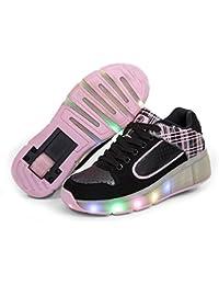 Glowing Zapatillas NiñOs Shoes Con Ruedas NiñOs Llevó La Luz De Up Roller Shoes Para Los NiñOs NiñOs NiñAs Sneaker Tenis De Color Rosa Negro Infantil