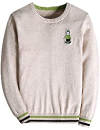 bd4a057ee KID1234 Boys Jumpers Kids Knitwear Thin Sweater Striped Long Sleeve Crew  Neck Pullover 4-14