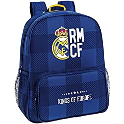 Safta Real Madrid Mochila Escolar, 38 cm, Multicolor