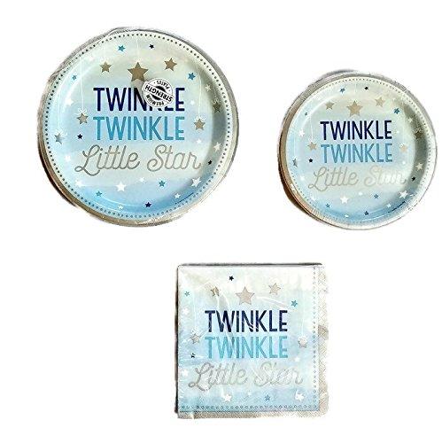 le Star blau Party Bundle 22,9cm Teller (8) 17,8cm Teller (8) Servietten (16) ()
