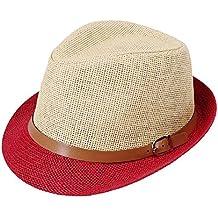 Crystallly Sombrero De Jazz De Sombrero Moderno Sombrero Paja De Paja Estilo  Simple Sombrero De Verano 1aeefa804cd