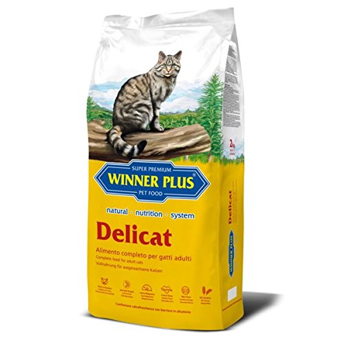 WINNER PLUS Delicat 10 kg - Alimento naturale, completo e senza glutine per gatti adulti di tutte le razze