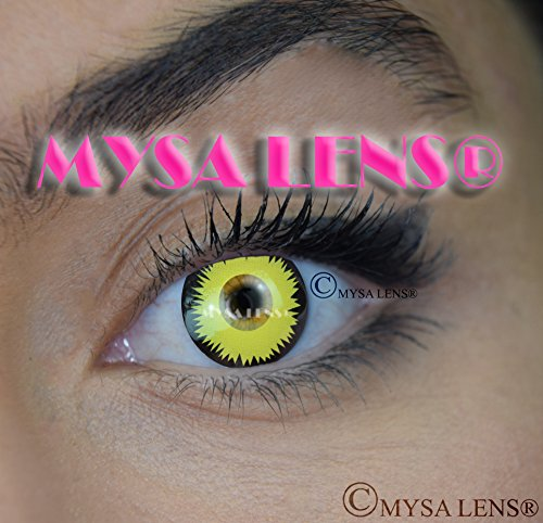 Lentillas de color amarillo para cosplay