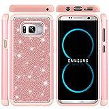 Flymaff Compatibile per Galaxy S8+ Custodia + Pellicola,2in 1Bling Brillante Custodia Morbido TPU paraurti Coperchio Protettivo Copertura per Samsung Galaxy S8Plus