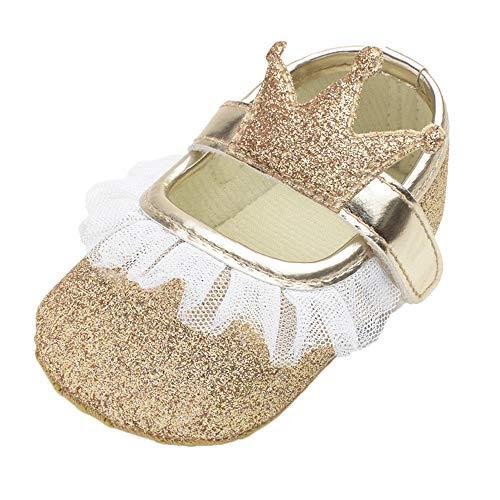 (MCYs Baby Mädchen Blume Bling Krone Spitze zufälliger Schuhe Mode Kleinkind Wanderer Schuhe Lauflernschuhe Krabbelschuhe Babyhausschuhe)
