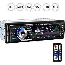 Yober Radio Coche Bluetooth MP3 Autoradio Estéreo AM FM In-Dash Reproductor Apoyo USB SD AUX BT con Pantalla LCD
