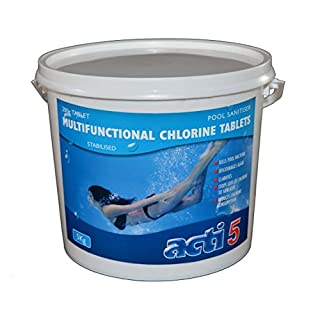 Acti - Multifunctional Chlorine 200g Tablets - 5kg Water Treatment for Pools