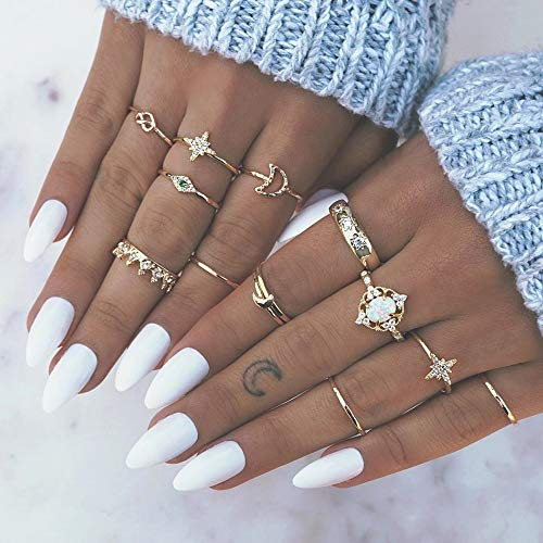 Simsly Boho Knuckle Ring Gold Vi...
