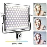 Video Licht LED, SAMTIAN Dimmbare Bi-Color-LED Studio-Videoleuchte, Zweifarbiges LCD-Display, U-förmige Stativaufnahme, CRI >96 für professionelle Video-Shootings und Studiofotografie