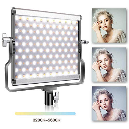 Video Licht LED, SAMTIAN Dimmbare Bi-Color-LED Studio-Videoleuchte, Zweifarbiges LCD-Display, U-förmige Stativaufnahme, CRI >96 für professionelle Video-Shootings und Studiofotografie