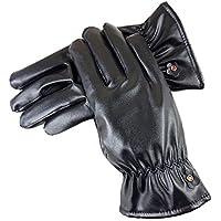 @LIU-Uomini e di donne caldi guanti imbottiti / / cuoio equitazione guanti touch