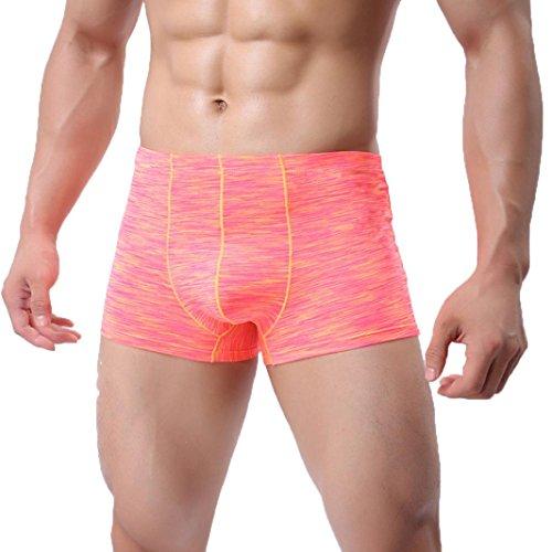 Herren Unterwäsche Shorts Herren Boxershorts,Sommer Männer Hohl Breathe Unterwäsche Slips Ausbuchtung Pouch Shorts Mesh Unterhose Von Jaminy (Rot, X-Large)