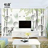 Tapete Experten-Wanduhr Wohnzimmer Modern minimalistisches Schlafzimmer wallpaper3dvideo wall3dwall Wandbilder Seamless-Tuch Tapete,