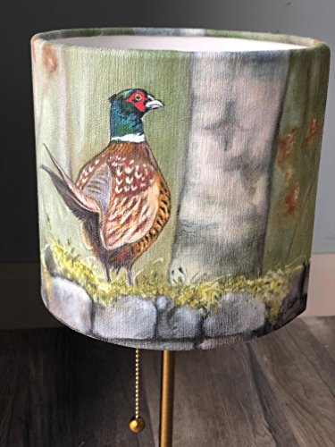 Pheasant Lampshade by Irish Artist Grace Scott